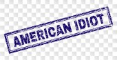 Grunge AMERICAN IDIOT Rectangle Stamp