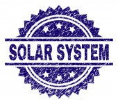 Scratched Textured SOLAR SYSTEM Stamp Seal