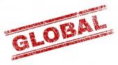 Grunge Textured GLOBAL Stamp Seal