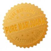 Golden PURE MARIJUANA Award Stamp