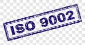 Grunge ISO 9002 Rectangle Stamp