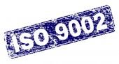 Grunge ISO 9002 Framed Rounded Rectangle Stamp