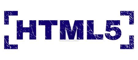 Grunge Textured HTML5 Stamp Seal Between Corners