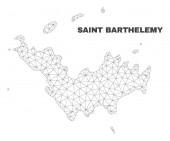 Vector Polygonal Mesh Saint Barthelemy Map