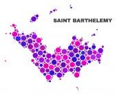 Mosaic Saint Barthelemy Map of Spheric Items