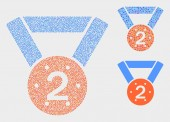 Dotted Vector 2Nd Place Medal Icons