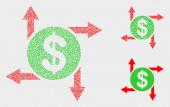Pixelated Vector Dollar Emission Icons