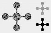 Mesh Node Icon Mosaics of Squares and Circles