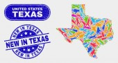 Factory Texas State Map and Distress New in Texas Seals