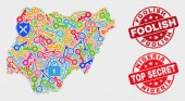 Collage of Passkey Nigeria Map and Scratched Foolish Watermark