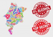 Composition of Safeguard Maranhao State Map and Distress 0 Percent Alcohol Seal
