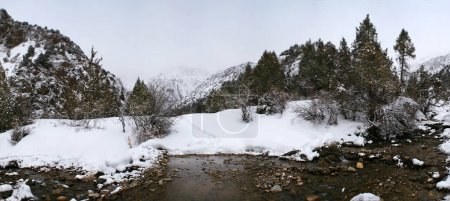 Panorama of mountain scenery in