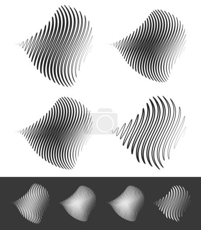Distorted abstract wavy lines...