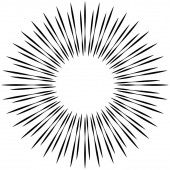 Radial ray beam lines Circular radiation stripes pattern Glea