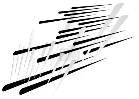 Illustration for Grid, mesh with dynamic lines. Intersecting stripes. Irregular grating, lattice texture. Interlocking, criss-cross abstract geometric illustration - Royalty Free Image