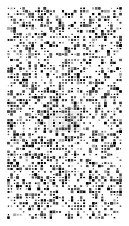 Illustration for Squares pixelated, block pixels random mosaic pattern / background. fusion checkered grid, mesh. shuffle, diffuse scatter squares. clutter matrix. geometric jumble texture. fragmentation vector art - Royalty Free Image