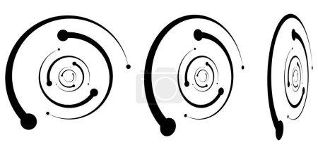Spirals, swirls, twirls in perspective. Spiral vec...