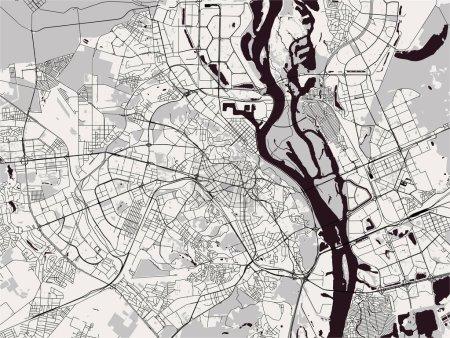map of the city of Kiev, Ukraine