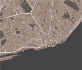 vector map of the city of Lisbon Portugal