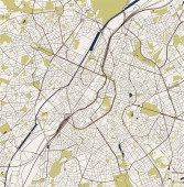 vector map of the city of Brussels Belgium