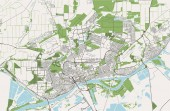 map of the city of Rostov-on-Don Russia