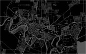 map of the city of Krasnodar Russia