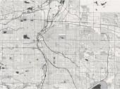 map of the city of Denver Colorado USA