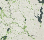 map of the city of Dallas Texas USA