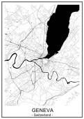 map of the city of Geneva Switzerland
