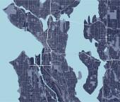 map of the city of Seattle Washington USA