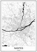 map of the city of Nantes France