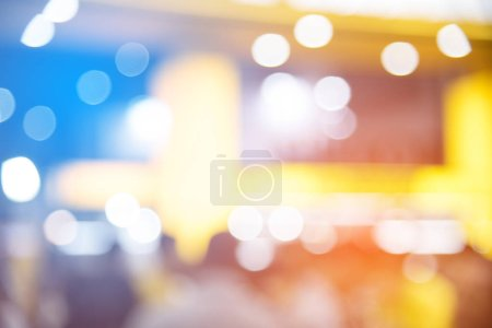 Abstract blurred of festival event with people and...