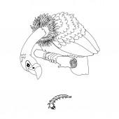 vector line cartoon animal clipart