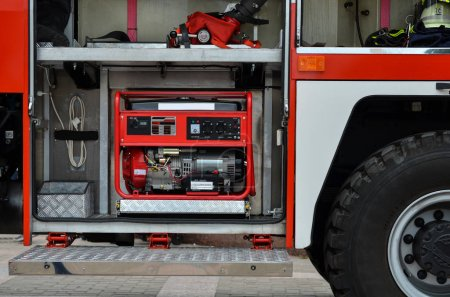 electric generator in fire engine