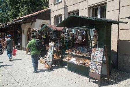 Foto de Sarajevo, Bosnia y Herzegovina-circa Julio 2016: centro histórico de Sarajevo en temporada de verano - Imagen libre de derechos