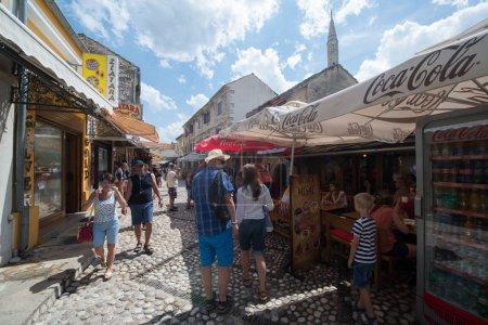 Photo for Sarajevo, Bosnia and Herzegovina, circa july 2016: Old town of Sarajevo in summer season - Royalty Free Image