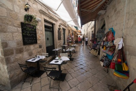 Photo for DUBROVNIK, CROATIA - circa july 2016: Old city streets in Dubrovnik, the UNESCO World Heritage site - Royalty Free Image