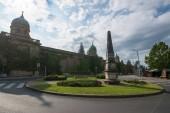 Zagreb, Croatia, circa July 2016: View at architecture in cemetery Mirogoj, town Zagreb landmarks, Croatia