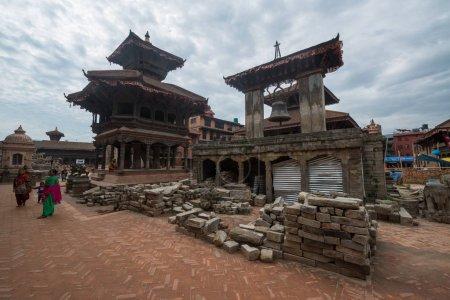 Photo pour Katmandou, Népal, vers mai 2017 : Place Katmandou Durbar, site du patrimoine mondial de l'UNESCO - image libre de droit