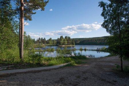 Photo pour Belle vue de paysage de la nature de norvège de Fredriksten festning - image libre de droit