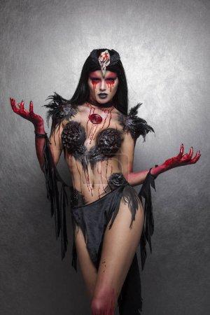 Portrait of bloody woman
