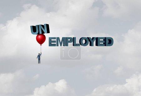 Foto de Concepto de contratación de empresas de empleo como concepto de empleo de contratación con elementos de ilustración 3D . - Imagen libre de derechos