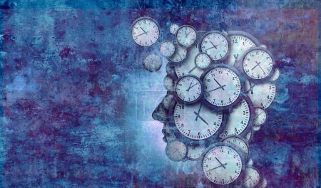 Photo pour Concept de temps d'entreprise et calendrier délai idée de gestion avec l'espace de la copie comme une illustration 3d. - image libre de droit