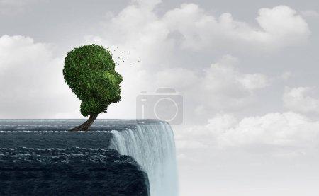Photo pour Concept d'anxiété et de sentiment d'anxiété et de nervosité dû au stress de la mort imminente et de la paranoïa psychologique en tant que psychologie de la peur en tant que trouble mental dans un style d'illustration 3D . - image libre de droit