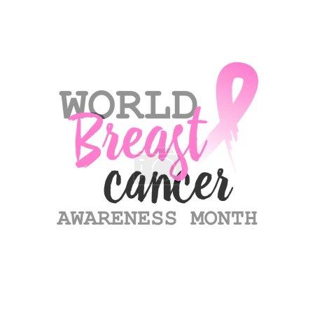 Breast cancer awareness ads poster. Vetor design t...