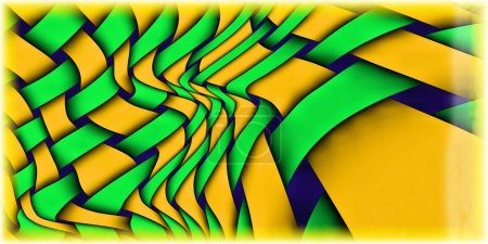 Twisted Weave Abstract Art Background