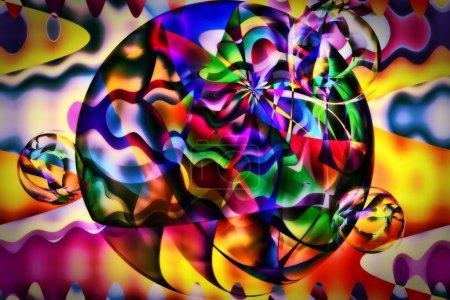 Colour Orbit Planet Abstract Art
