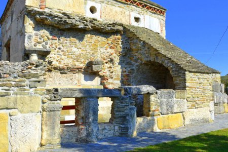 Old Christin church (IV century) in the village Densus, Transylvania, Romania