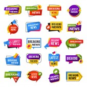News announce Advertising breaking special offers geometric reports vector badges templates