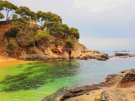 Photo pour Plage de Platja d'Aro, plages de la Costa Brava Costa Brava (Espagne), - image libre de droit